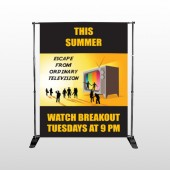Television 525 Pocket Banner Stand