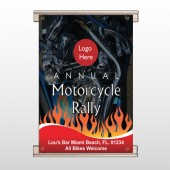 Motorcycle Flame 322 Track Banner