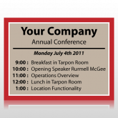Annual Company Conference Sign Panel