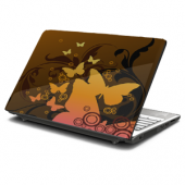 Brown Butterfly Laptop Skin