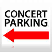 Concert Parking Directional Sign Panel