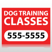 Dog Training Classes Sign Panel