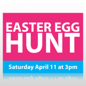 Easter Egg Hunt Sign Panel