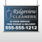 Dry Cleaners 24 Hanging Banner