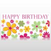 Flowers Birthday Banner