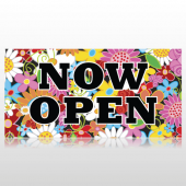 Flowery Grand Opening Banner