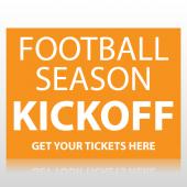 Football Season Kickoff Sign Panel