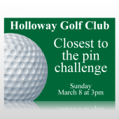 Golf Club Closest To The Pin Sign Panel