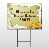 Halloween Party Wire Frame Sign