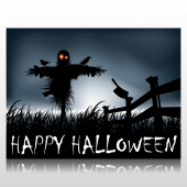 Happy Halloween Scarecrow Sign Panel