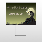 Haunted House Reaper Wire Frame Sign