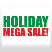 Holiday Mega Sale Sign Panel