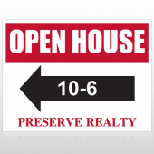 Open House 18 Custom Sign