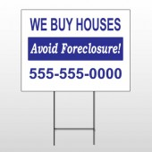 Avoid Foreclosure 163 Wire Frame Sign