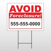 Foreclosure 119 Wire Frame Sign