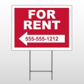 For Rent 43 Wire Frame Sign