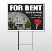 For Rent 124 Wire Frame Sign