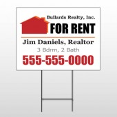 For Rent 126 Wire Frame Sign