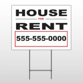 For Rent 138 Wire Frame Sign