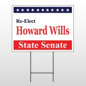 Political 12 Wire Frame Sign