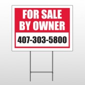 Sale By Owner 13 Wire Frame Sign
