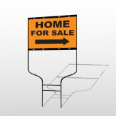 Home For Sale 34 Round Rod Sign