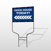 Open House 19 Round Rod Sign