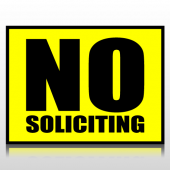 No Soliciting Sign Panel