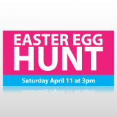 Pink Easter Egg Hunt Banner