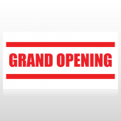 Red Grand Opening Banner