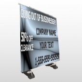 Gray Going Out Sale 12 Exterior Pocket Banner Stand