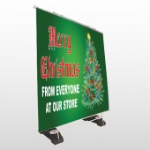 Merry Christmas 29 Exterior Pocket Banner Stand