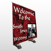 Rose Couple 04 Exterior Pocket Banner Stand