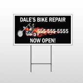 Harley Flames 108 Wire Frame Sign