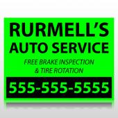 Rurmells Auto Service Sign Panel