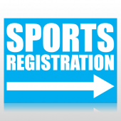 Sports Registration Sign Panel