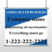 Going Out Sale 11 Hanging Banner
