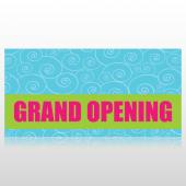Swirls Grand Opening Banner