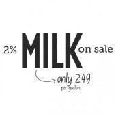 Milk On Sale