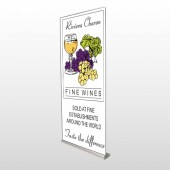Wine 145 Retractable Banner Stand