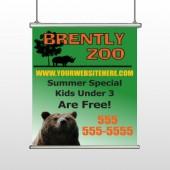 Bear Zoo 302 Hanging Banner