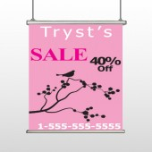 Bird Branch Sale 08 Hanging Banner