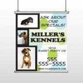 Dog kennels 300 Hanging Banner