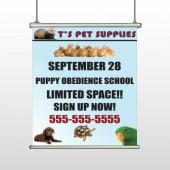 Pet Supplies 305 Hanging Banner