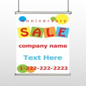 Square Circle Sale 15 Hanging Banner