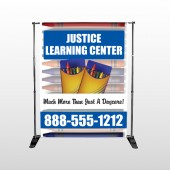 Crayons 184  Pocket Banner  Stand
