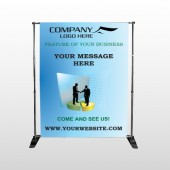 Men 170 Pocket Banner Stand