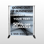 Gray Going Out of Business Sale 12 Pocket Banner Stand