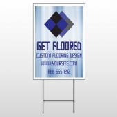 Blue Checker 249 Wire Frame Sign