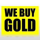 We Buy Gold Sign Panel